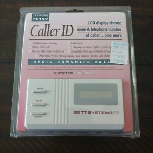 TT Systems Caller ID TT-10N Wall Mountable LCD Display Screen New Sealed