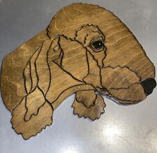 Bedlington Terrier Wood Dog Head Wall Hanging Art Folk sign plaque display deco