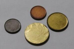 ERROR COINS GERMANY FEDERAL REPUBLIC 4 BLANK DISCS B36 RR15