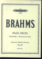 "Brahms : "" Klavierstücke "" Opus 118"