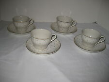 Lot of 4 Cups Saucers Starlight Staffordshire England Laura Ashley Dinnerware