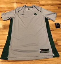 Nike Boston Celtics Grey Green City Edition Shooting Shirt 918147 014 LARGE
