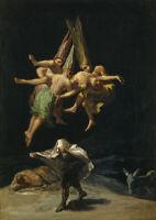 Francisco de Goya: Witches Flight. Fine Art Print/Poster