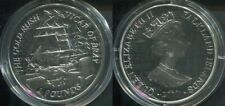 FALKLAND 2000 - 2 Pounds in Silber, PP - SCHIFFE Gold Rush - Vicar of Bray
