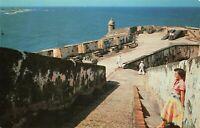 Postcard Fortress El Morro San Juan Harbor Puerto Rico