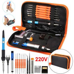 220V 60W Kit Fer à Souder Electronique Soudage Température Réglable 200 à 450°C