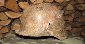Original-Authentic WW2 WWII Relic German helmet Wehrmacht mfr SE66  3346  #115