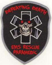 EMS Rescue Paramedic Defeating Death Patch