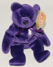 Rare 1ST Edition TY Princess Diana Bear Beanie Baby China 1997 NO SPACE / STAMP