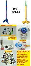 Estes Flying Model Rocket Kit Wizard & Viking Combo TWO level 2 Kits New Sealed