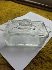 Vintage Butter Dish Glass Made In England