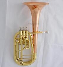 High Grade Rose Brass Bell Alto Horn Eb Keys 3 Piston in stock With Case
