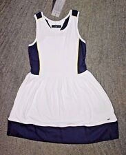 Tommy Hilfiger Girls White & Navy Sleeveless Dress - Size S(6-7) - NWT