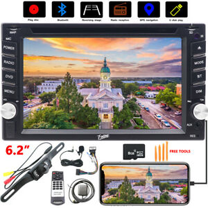Fit Nissan Altima Double 2 Din 6.2in Car Radio DVD Stereo Touchscreen Bluetooth
