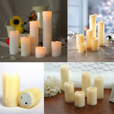 6x LED Flameless Dripping Candles Battery Operated Wedding Church Tall Pillar