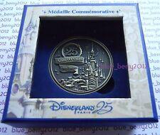 Disney land Paris 25 th anniversary 25eme anniversaire Coin Medal Medaille Münze