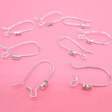 10PCS Making 925 Silver Jewelry Finding Silver Earring Pinch Hook Ear Wire E10