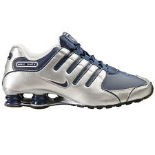 Nike Shox NZ Mens 378341-402 Midnight Navy Silver Running Shoes Size 10.5