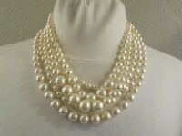NWT J.Crew Off White Multi-strand Twisted Hammock Pearl Necklace MSRP $52.00