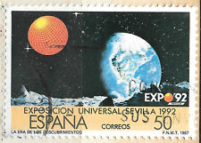 Issued 1987 for expo 1992 Spanish stamp - astronomy theme v 50 - see scan