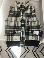 Jack By  BB Dakota Women's Plaid Short Sleeve Vest Size Small