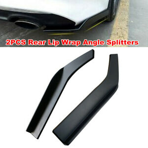 2PCS 62cm Car Bumper Spoiler Rear Lip Angle Splitter Diffuser for Audi BMW Lexus