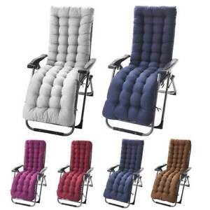 """61"""" Deck Chair Cushion Lounge Tufted Chaise Padding Outdoor Indoor Recliner Mat"""