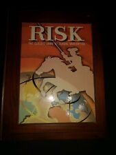 Vintage Collections Risk Board Game Wooden Bookshelf Habro 2005