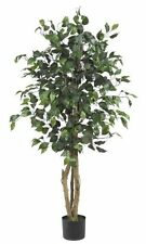 Nearly Natural 5299 Ficus Silk Tree- 4-Feet- Green NEW