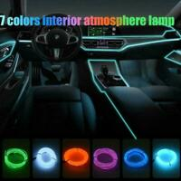 Red 2M 12V LED Car Auto Interior Decorative Atmosphere Wire Strip Lamps I5S2