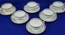 "Royal Doulton Satsuma E5692-Lot of (6) Cups, 2 1/4"" and (6) Saucers 5 5/8"""