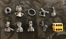The Simpsons CLUE Game Pieces: 4 Pewter Tokens & 5 Weapons Charms