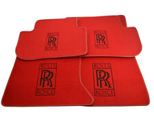 Floor Mats For Rolls Royce Dawn RR6 Tailored Red Carpets With RR Emblem LHD NEW