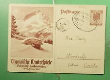 DR WHO 1936 GERMANY DRESDEN BAHNPOPST OLYMPICS PICTORIAL POSTAL CARD  g21439