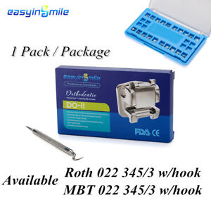 1x Dental Orthodontic Metal Self-ligating Bracket ROTH/MBT 022 Brace EASYINSMILE