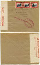SOUTH WEST AFRICA 1940 CENSORED + HOME OFFICE + STAMPS MUST NOT BE REMOVED