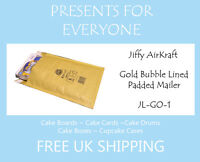 50 x Jiffy Airkraft Gold Bubble Lined Postal Padded Mailing Bags JL-GO-1 D/1 DVD