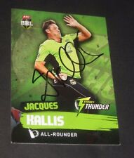 Jacques Kallis (Sth Africa) signed Sydney Thunder BBL Card