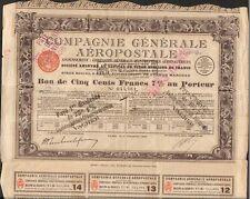 bon 500 francs: COMPAGNIE GÉNÉRALE AÉROPOSTALE (EX-AIR FRANCE) (O)