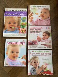 BUNDLE OF 5 ANNABEL KARMEL BABY TODDLER WEANING BOOKS