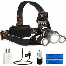 LED Headlamp Rechargeable Waterproof Head Flashlight Lamp With 3 XM-L T6 New