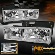 88-98 Chevy Silverado Suburban Tahoe GMC Yukon Sierra Chrome Headlights Headlamp