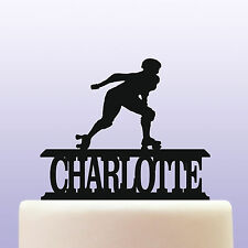 Personalised Acrylic Female Roller Skating Birthday Cake Topper Decoration
