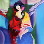 Wall Art Canvas Print,Itzchak Tarkay Oil Painting Figures Lady Reproductio Decor