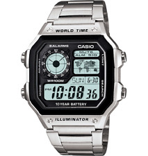 Casio Men's AE1200WHD-1A World Time Multifunction 42mm Watch