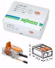 Wago Connectors 221-412 box of 100 unopened 2-way