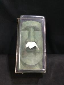 Rudy Tikihead Tissue Box Holder Retro 51 Tissue Case Face Green Black