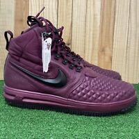 Nike Men's Lunar Force 1 Duckboot '17 Bordeaux/Black/Maroon 916682-601 Size 13