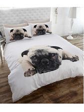 THE PUG DOG SINGLE bed QUILT DOONA DUVET COVER SET NEW