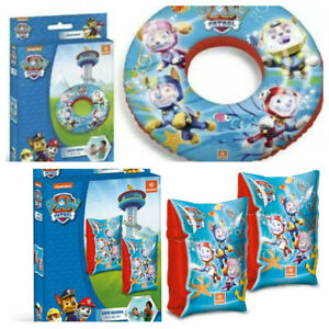 Kids Girls Boys Paw Patrol Arm Bands Ring Swimming Beach Inflatable 2-6 Years